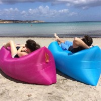 Large Sofa Fast Inflatable Lazy Air Sleeping Bag for Camping Bed Beach Travel