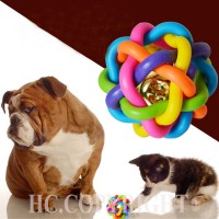 Packaging: 3 PCs Pet Dog Puppy Colorful Dental Teething Healthy Teeth Chew Training Play Ball Toy