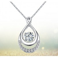 Diamond Necklace 925 Sterling Silver Pendant Necklace Brand New Love Necklace Free Shipping