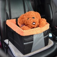 Car Front Seat Dog Cage Pet Waterloo Comfort Travel Pet Carrier Dog Booster Seat for Cars with Seat Belt Tether