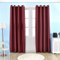 Wide Width Grommet TopThermal Insulated Window Blackout Curtain Solid Color Room Darken Drapes