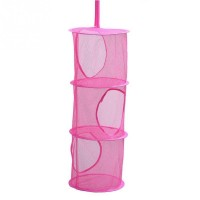 3 Tier Mesh Hanging Storage Basket Hanging Network Storage Cage Storage Compartments Collapsible Bra Storage Cage Nest
