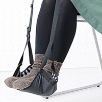 Fashion Portable Cotton Knitted Footrest Flight Carry-on Foot Hammock  Rest