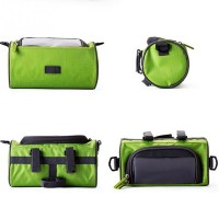 Waterproof Mountain Bicycle Front Frame Pannier Cycling Bags Double Pouch For Cell Phone Wallet Holder
