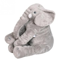 Long Nose Elephant Doll Pillow Soft Plush Stuff Toys Lumbar Pillow For Baby Kids