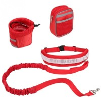 Running Dog Pulling Set Dog Leash For Running Jogging Or Walking Adjustable