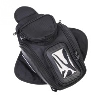New Black Oil Fuel Tank Bag Magnetic Motorcycle Motorbike Saddle Bag w/Window Moto Accessory