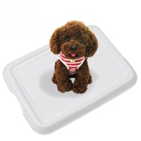 Indoor Pet Toilet Dog  Restroom  Potty Training with Tray and Puppy Pad Pet Training Toilet