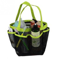Portable 8 Storage Shower Caddy Mesh Quick Dry Travel Tote Bag Carry Handle Bag
