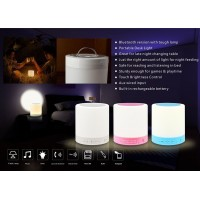 Wireless Bluetooth Speaker Smart Touch Lamp, Music Player / Hands-free Bluetooth Speakerphone / TF Card Supported / Touch-Sensitive Control Panel, Multi-Color Switching