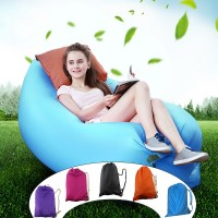 Shonfiel New Unisex Comfortable Fast Inflatable Air Sofa Waterproof Lazy Sleeping Bed Laybag for Camping Hiking Beach Sunbathing