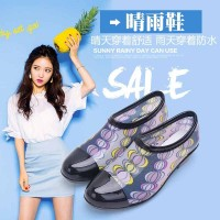 Ms packages mailed the new fashion simple short shoe High quality light environmental protection PVC waterproof non-slip comfortable flat with fine rain