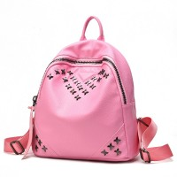 women bag backpack pu leather bagpack sac a dos bag mochilas feminina bags back pINk mini hombres PINK luxury mochila
