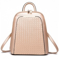New Fashion Women Leather Casual Backpack,High Quality Women's School Bag