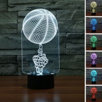 (Free shipping) Touch Switch 7 Colors Changing Skull 11 Night light 3D Visual LED Lamp