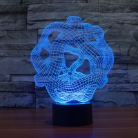 (Free shipping) Touch Switch 7 Colors Changing Creative 22 Night light 3D Visual LED Lamp