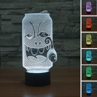 (Free shipping) Touch Switch 7 Colors Changing Bottle 05 Night light 3D Visual LED Lamp