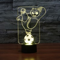 (Free shipping) Touch Switch 7 Colors Changing Panda Night light 3D Visual LED Lamp