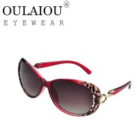 Oulaiou Brand Women's Summer Fashion Accessories Anti-UV Trendy Sunglasses O8502
