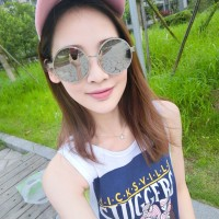 Oulaiou Brand Women's Summer Glsses Fashion Accessories Anti-UV Protect Eye Trendy Sunglasses O143