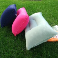 Outdoor pvc pillow Tourism camping inflatable pillow thick Flocking Rectangular inflatable pillow Nap