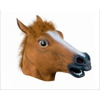 Horse head mask Halloween Performances Animal Mask Latex Mask
