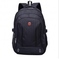 2016 Men Women Black Laptop Backpack Sports Rucksack Package Leisure travel computer shoulder bag