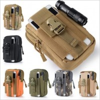 Outdoor sports molle tactical waist packs Male 5.5 / 6 inch waterproof phone bag Wear a belt running bag