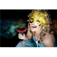 Christmas masquerade masks Woman mask Princess crown mask Queen of the Golden Crown Mask