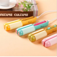 China's mini fruit straight hair Lovely creative straight volume two electric hair curler curling iron