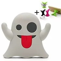 Boo Ghost Emoji 2600mAh Portable Charger Power Bank For iPhone, Android & Tablets. Includes Micro USB Cable. Cute & Funny Gift.