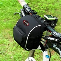 Bicycle First Bag Skateboard Front Bag Folding Bicycle Handlebar Bag Cycling Equipment Accessories Black Bicycle Mobile Phone Bag