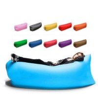 Fast Inflatable Air Sleeping Bag Waterproof Lazy Sofa Bed Festival Camping Hiking Travel Hangout Beach Bag Bed Camping Banana Couch