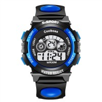 Cool Po Shi children colorful multi-functional waterproof electronic watches students