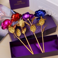 Creative Gift Gold Foil Roses Tanabata Valentines Day Gift Large 25cm gift box