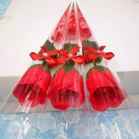 Simulation of single rose soap soap creative soap flower practical Valentine 's Day gift roses soap