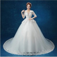 Wedding dress Women Fashion new Lace pierced Slim own White Gown Fishtail Wedding dress