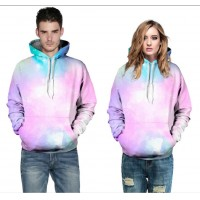 3D Hoodies  2017 Boy's Novelty Streetwear 3D Couples pink love printing belt pocket Hooded hoodies.