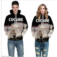 3D Hoodies  2017 Boy's Novelty Streetwear 3D Couples What's in the bag printing belt pocket Hooded hoodies.