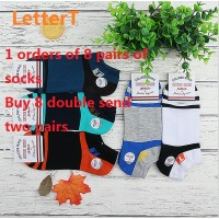 (10 pairs of socks,8 to send 2)Cotton socks and socks for male and female creative cartoon stealth socks combed cotton socks(Buy 8 double send two pairs)