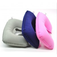 Travel air pillow U pillow inflatable pillow flocking pillow health care pillow U neck pillow 42g