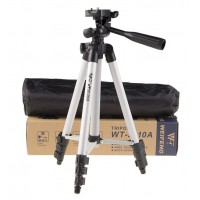 3110A Pro Camera Tripod Portable Lightweight Aluninum Tripod with Flexible Three-way Tripod Head for Canon Nikon Sony Cameras