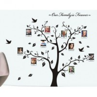 New Family Photo Frame Tree Home Decor Wall Stickers Art Mural Decal Decorative