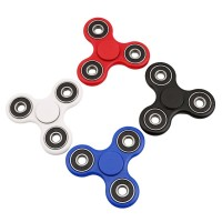 Tri-Spinner Fidget Toy Plastic EDC Hand Spinner For Autism and ADHD Rotation Time Long Anti Stress Toys