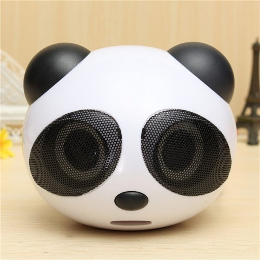 Lovely China Panda Shape High Quality Portable USB Mini Stereo Speaker For Desktop Laptop Notebook Android Cellphone Gift