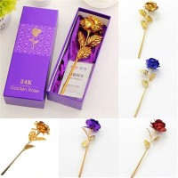 Hot! Birthday Wedding Gift Gold Plated Rose Lover's Flower Dipped Rose Eternal Love
