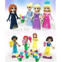Building Blocks Super Heroes Princess Minifigures Cartoon Movie Anna and Elsa Minifigures With Stickers Girl Friends Mini Figure