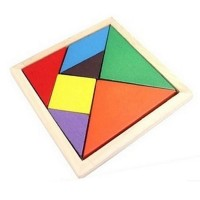 hildren Mental Development Tangram Wooden Jigsaw Puzzle Educational Toys for Kids