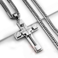 European and American high-end Cross Necklace christ catholic religious belief Pendant