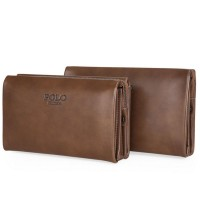 High Quality Cowhide Casual Leather Wallet Men Clutch Fashion Men Bag Handbag Male Long Purse